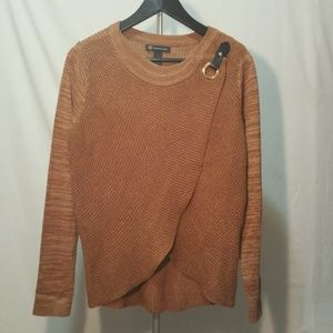 INC Overlapped Knit Sweater